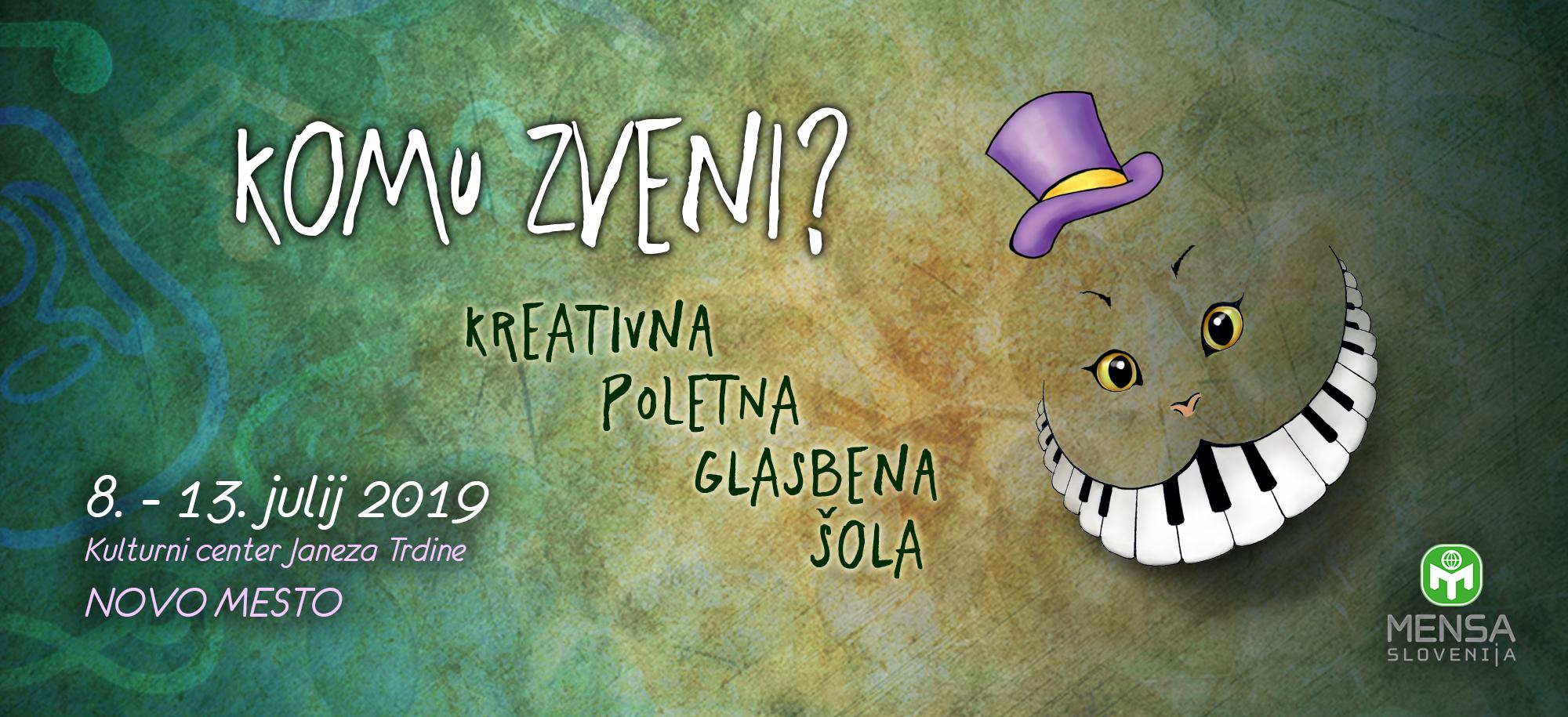 ZAKLJUČILA SE JE Prva kreativna poletna glasbena šola komu zveni, julij 2019, Novo mesto